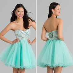 Dresses Formal Shining Crystals Knee Length Homecoming Dresses Custom Made Light Blue Tulle Sweetheart Neckline Sleeveless Short A Line Lace Up Party Dress Affordable Homecoming Dresses From Weddingdressesonline, $99.86| Dhgate.Com