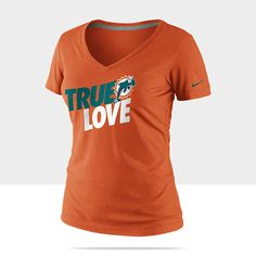 Nike True Love (NFL Dolphins) Womens T-Shirt Miami Dolphins Apparel 688a3722f