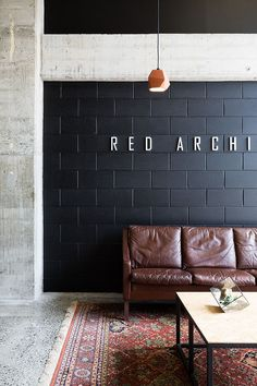Red Architecture are a boutique architectural practice specialising in residential housing, commercial buildings and fitouts. Concrete Block Walls, Cinder Block Walls, Cement Walls, Cinder Block House, Painting Concrete Walls, Cinder Block Bench, Concrete Houses, Brick Interior, Office Interior Design