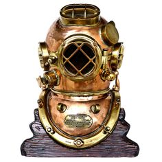 Historic Navy Diver's Nautical 1943 Schrader MK V Dive Helmet