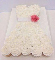 Cute a Bridal Shower cupcake idea