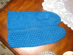 Teal Blue Handmade Winter Angora mittens/gloves, Ready to be shipped Today by ufer on Etsy