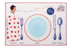 Manners Placemat #childrensmanners #mealtime #giftideaforkids #vintage #etiquette #behavior