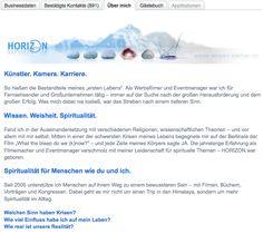 Profilmodul Udo Grube - #XING Profil und Text
