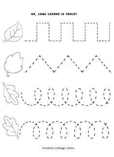 Preschool Tracing Pages Preschool Workbooks, Fall Preschool Activities, Preschool Writing, Numbers Preschool, Homeschool Kindergarten, Preschool Learning Activities, Kindergarten Worksheets, Preschool Crafts, Kids Learning