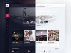 Online Music Streaming Service - Moods B&W by Mateusz Piatek #Design Popular #Dribbble #shots