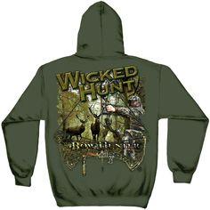 1b183879 Hunting Deer Buck Bow Hunter Wicked Hunt Outdoor Forest Hoodie Sweatshirt  S-3XL #ErazorBits #Hoodie