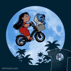 """626 Phone Home"" by Harebrained. Lilo & Stitch in the style of Elliot and E.T. [Sold at TeeFury]"