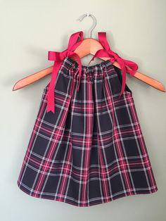 Black & Red Plaid Pillowcase Dress Custom Made by ALaModeThreads