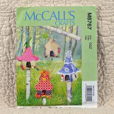 Fairy Houses Pattern, McCalls M6767 Crafts, Decorative, Hanging, 2013 Uncut, 3-oz by DartingDogCrafts on Etsy