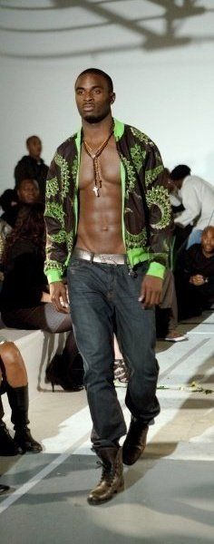 African Print Jacket By Bot i Lam..OK, oh, yeah, the jacket is NICE TOO...lol