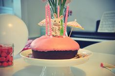 Sylvanian toy on a birthday cake, so cute !