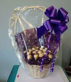 Diy Bouquet, Candy Bouquet, Bouquets, Ferrero Chocolate, Ferrero Rocher Chocolates, Birthday Candy, Birthday Thank You, Cellophane Wrap, Handmade Chocolates