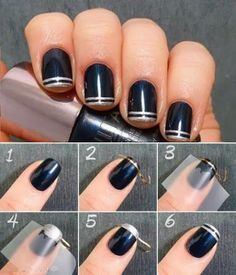 Nails Art Tutorials : double French tips