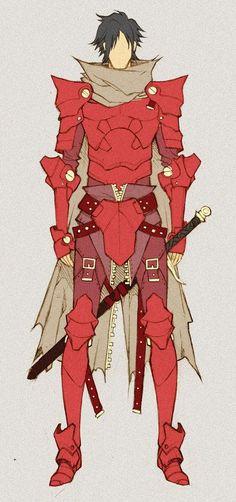 Crimson Knight - concept by *MizaelTengu on deviantART ✤ || CHARACTER DESIGN…