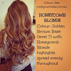 Honeycomb blonde Brown With Caramel Highlights, Blonde Highlights, Carmel Balayage, Rock Your Locks, Bayalage, Auburn Hair, Light Hair, Cut And Color, Brunette Hair