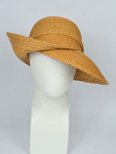 Capeline hat florentine straw vintage style by LaurenceLeleuxHats