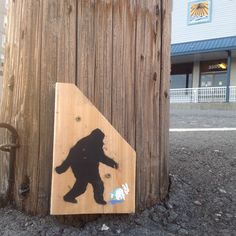 Walk Your Bunny Every Day Sasquatch street art.