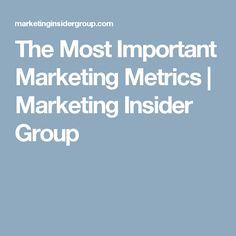 The Most Important Marketing Metrics | Marketing Insider Group