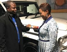 Photos: Malawian pastor, Prophet Bushiri, buys his wife a G-wagon as her birthday present, weeks after she gave him a 2016 Rolls Royce Gifts For Pastors, Gifts For Wife, Birthday Gift For Wife, Birthday Presents, Mercedes G Wagon, Nigeria News, My King, Rolls Royce, Celebrity Gossip