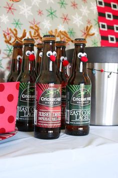 Brittany D's Christmas/Holiday / Ugly Sweater - Photo Gallery at Catch My Party Ugly Sweater, Ugly Christmas Sweater, Christmas Cocktails, Christmas Holidays, Christmas Ideas, Winter Fun, Cake Templates, Beer Bottles, Christmas Party Decorations