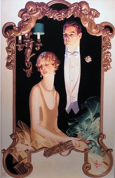 Gentleman and Seated Lady, United States, 1929, by J.C. Leyendecker.