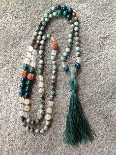 08B: turquoise, tourmaline, azurite chrysocolla, jade guru -SOLD