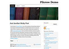 pilcrow-theme on wordpress example