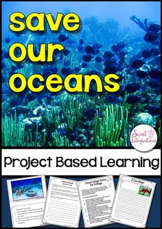 PROJECT BASED LEARNING SCIENCE: Save Our Oceans – Ocean Animals With PowerPoint; Use this 50+ page resource with your upper elementary 3rd, 4th, 5th, or 6th grade classroom or home school students. This project based learning unit addresses threats to our oceans and our ocean animals. Students use research skills and technology as they address this environmental problem. {third, fourth, fifth, sixth graders}
