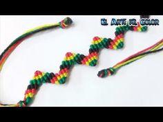 collar multicolor en forma de colmillo (sacando hilos) - YouTube                                                                                                                                                                                 Más