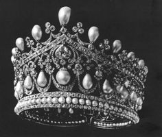 Empress Alexandra's Pearl and Diamond Diadem