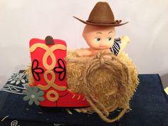 Western/ Cowboy Baby Shower Centerpiece Idea