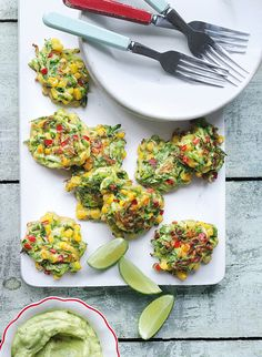 Corn and courgette cakes are all about fresh, simple yet effective ingredients. Enjoy as a healthy snack or pair with a dipping sauce for the ultimate starter.