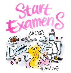 Start Examens, succes! By Blond-Amsterdam