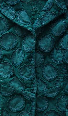 It's a Colorful Life ~ — Alabama Chanin - Embroidered Betsy Blazer Art Textile, Textile Artists, Alabama, Fabric Embellishment, Reverse Applique, Shades Of Teal, Altering Clothes, Turquoise, Fabric Manipulation