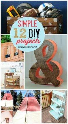 12 Simple DIY Projects - #7 is especially awesome!  Pin for later!  | #diy #diyprojects #homedecor