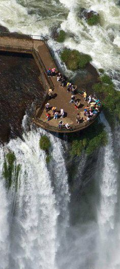 The Iguazu Falls in #Brazil: an impressive view! #Travel                                                                                                                                                                                 More