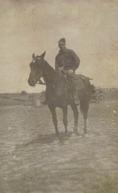 Grandpa Johnson on a horse in France during World War I.