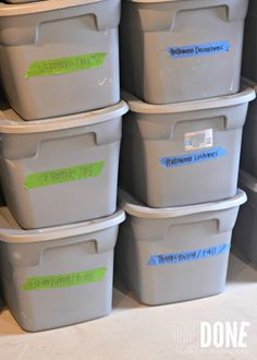 33+ Helpful Moving Tips Everyone Should Know ~ Use bins for seasonal items so you can easily identify what needs to be stored in the garage.