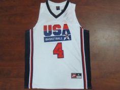 008f194f2 1992 USA Dream Team White  4 Christian Laettner White Jrsey 1992 USA Dream  Team White  4 Christian Laettner White Jrsey