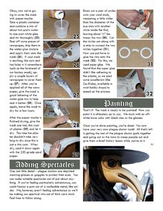 Great tutorial for a plague mask!!    Plague Doctor « Creepypasta