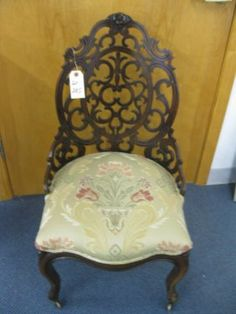 c1850 Rococoparlor chair, laminated rosewood, 12-2h.