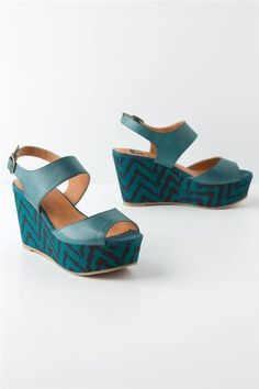 11ae4cc6082 Anthropologie Zigzag-Printed Wedges Anthropologie Shoes