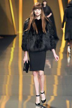 Adorable coat on the Elie Saab Paris Fashion Week catwalk