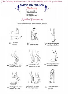 Achilles tendon exercises