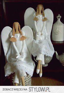 handmade by Katroš. Diy Angels, Handmade Angels, Angel Crafts, Christmas Crafts, Doll Clothes Patterns, Doll Patterns, Felt Angel, Sewing Dolls, Angel Ornaments