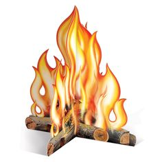 Amazon.com: Beistle 57322 3D Campfire Centerpiece, 12-Inch: Party Table Centerpieces: Kitchen & Dining