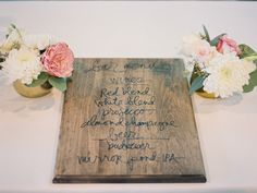 #menus  Photography: Laura Nelson Photography  Read More: http://www.stylemepretty.com/2013/12/30/diy-oregon-wedding-at-camp-lane/