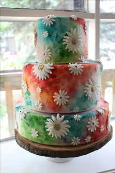 Hippie wedding cake                                                       …