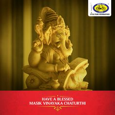 Masik Vinayaka Chaturthi falls on the Shukla Paksha after Amavasya. This festival is also known as Varad Vinayaka Chaturthi. An elaborate pooja is usually done during midday to invoke the blessings of Lord Ganesh, the remover of all obstacles. #PureDevotion